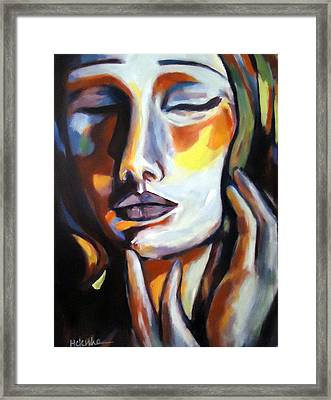 Framed Print featuring the painting Emotion by Helena Wierzbicki