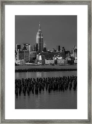 Empire State Building Dressed Up In Pastels Framed Print