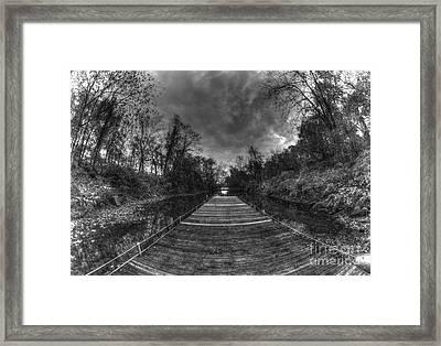 Empty Dock Framed Print by Mark Ayzenberg