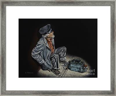 Empty Pockets Framed Print by Ricardo Chavez-Mendez