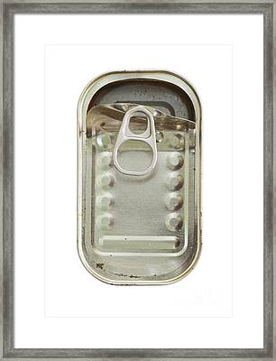 Empty Tin Can Framed Print by Michal Boubin