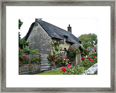 English Cottage  Framed Print by Katy Mei