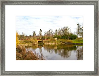 English Countryside Scene On A Cold Winter Day Framed Print