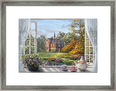 English Garden Framed Print by Dominic Davison