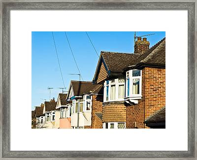 English Houses Framed Print