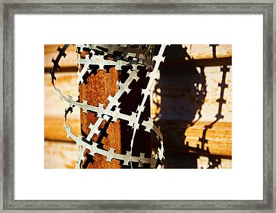 Enhanced Level Of Safety And Security 1 Framed Print by Mark Weaver