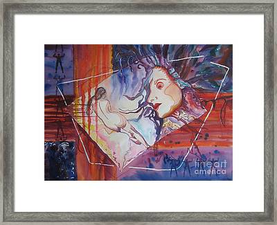 Framed Print featuring the painting Enlightenment by Diana Bursztein