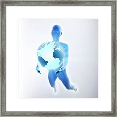 Environmental Protection Framed Print by Andrzej Wojcicki/science Photo Library