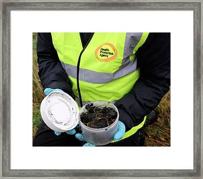 Environmental Soil Monitoring Framed Print by Public Health England