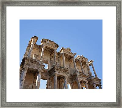 Ephesus Library Framed Print by David Parker