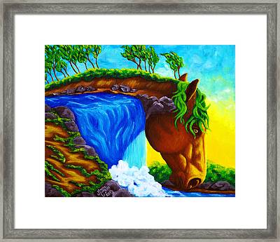 Equifall Framed Print