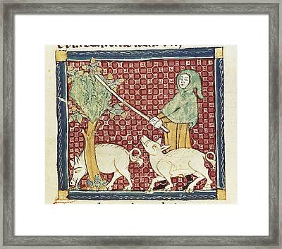 Ermengaud Of Beziers 13th Century Framed Print
