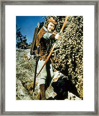 Errol Flynn In The Adventures Of Robin Hood Framed Print