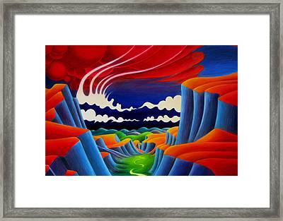 Framed Print featuring the painting Escalante by Richard Dennis