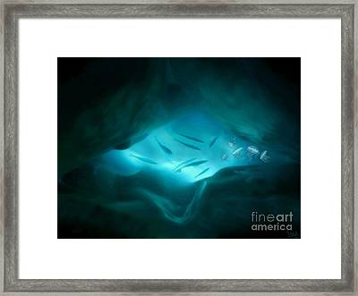Framed Print featuring the mixed media Ethereal Aquarium by Steed Edwards
