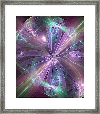 Ethereal Flower In Violet Framed Print