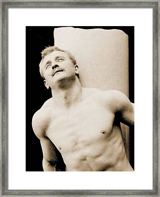 Eugen Sandow Framed Print by George Steckel