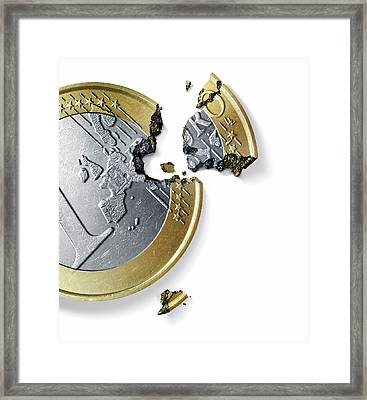 Euro Crisis Framed Print by Smetek