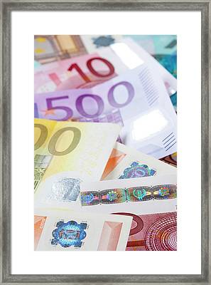 Euro - European Union Banknotes Framed Print