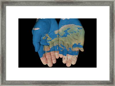 Europe In Our Hands Framed Print