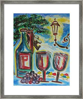 Framed Print featuring the painting European Wine by Diane Pape