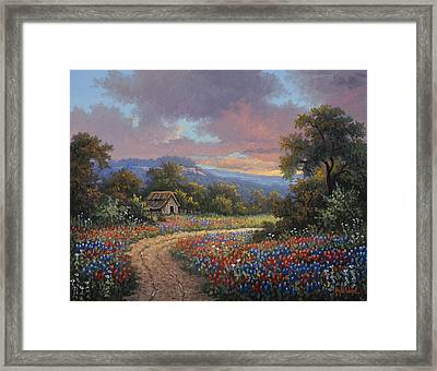Evening Medley Framed Print