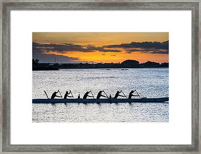 Evening Rowing In The Bay Of Apia Framed Print