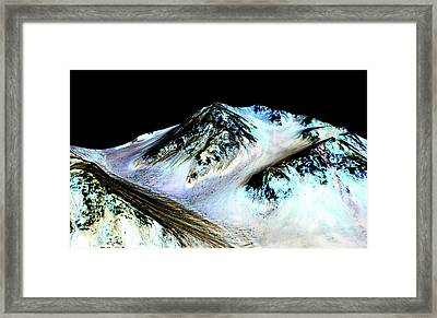 Evidence Of Water On Mars Framed Print
