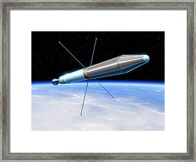 Explorer 1 Satellite Framed Print by Detlev Van Ravenswaay