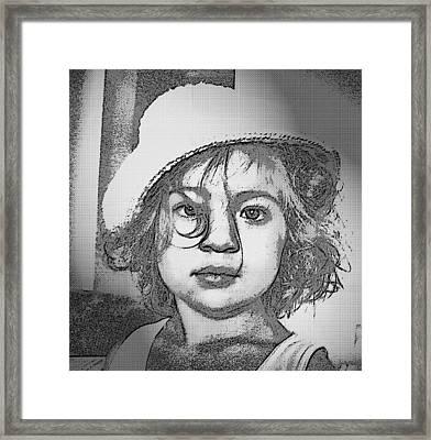 Eyes In Black Framed Print