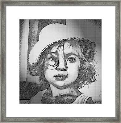 Eyes In Black Framed Print by Beto Machado