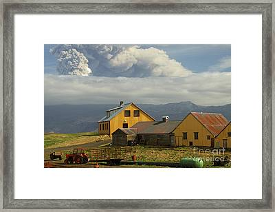Eyjafjallaj�kull Ash Cloud, Iceland Framed Print by Stephen & Donna O'Meara