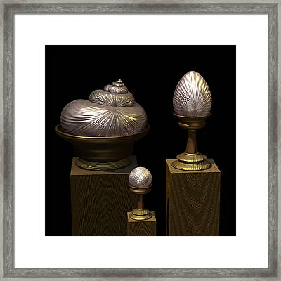 Faberge Style White Gold Framed Print