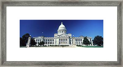 Facade Of A Government Building, State Framed Print