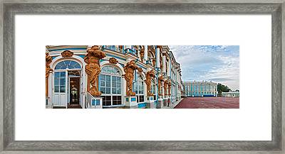 Facade Of Catherine Palace, Tsarskoye Framed Print by Panoramic Images