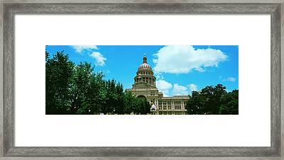 Facade Of The Texas State Capitol Framed Print