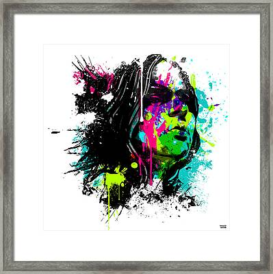 Face Paint 4 Framed Print by Jeremy Scott