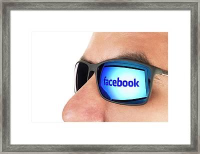 Facebook Framed Print by Daniel Sambraus