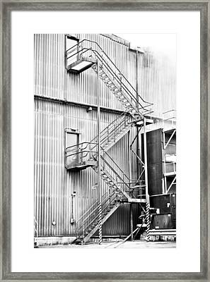 Factory Steps Framed Print by Tom Gowanlock