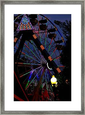 Fall Festival Ferris Wheel Framed Print by Deena Stoddard