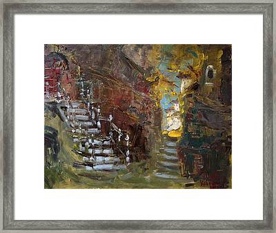 Fall In Albanian Village  Framed Print