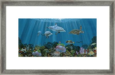 Fantasy Reef Re0020 Framed Print by Carey Chen