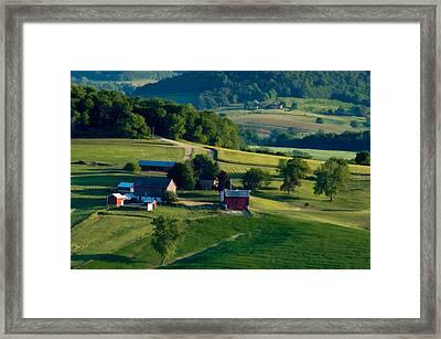 Farm Land Framed Print by Bob Nardi