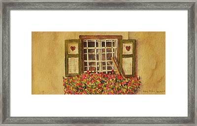Farm Window Framed Print by Mary Ellen Mueller Legault