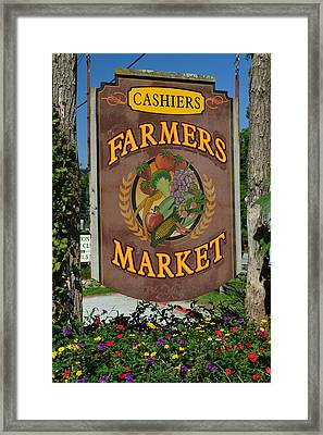 Farmers Market Framed Print by Frozen in Time Fine Art Photography
