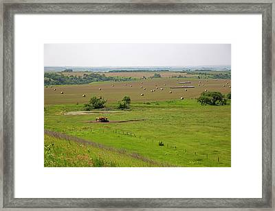 Farming In South Dakota Framed Print by Jim West