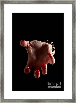 Female Clawhand Attack Framed Print