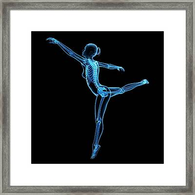 Female Dancer Framed Print by Sebastian Kaulitzki