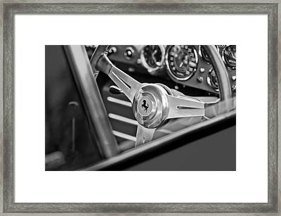 Ferrari Steering Wheel Framed Print by Jill Reger