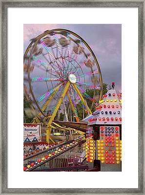 Ferris Wheel Fairground Ride Framed Print by Jim West